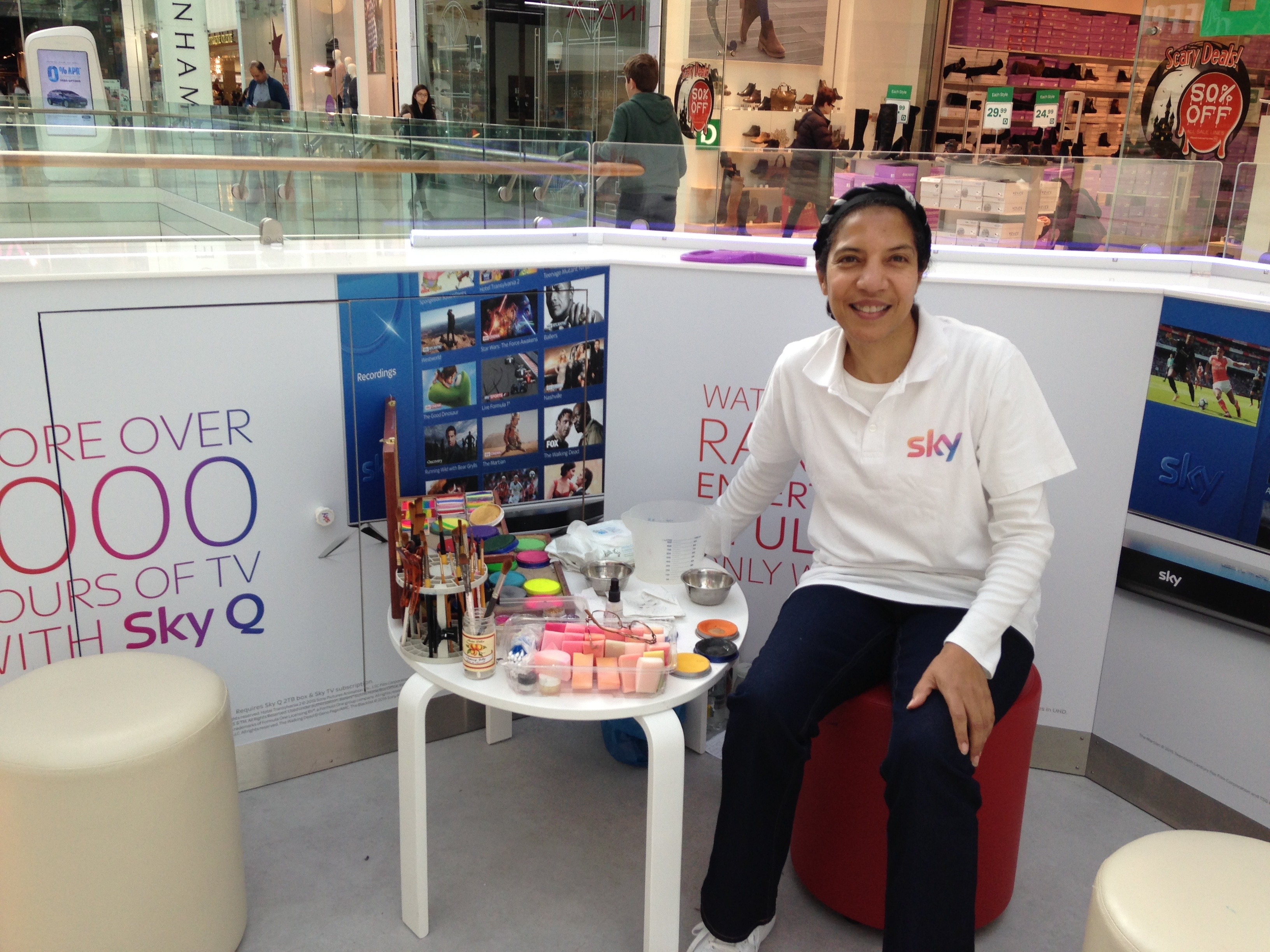 Face painting for Sky Q